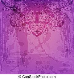 arabesco, resumen, vector, artístico, plano de fondo, floral