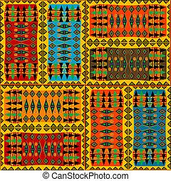 arabescos, étnico, coloridos, africano, fundo