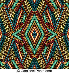 arabescos, étnico, geométrico, patchwork, fundo