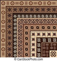 arabescos, fundo, africano