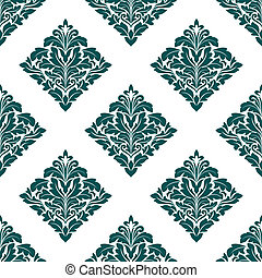Arabescue floral seamless pattern background