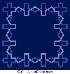 Arabesque blank border, geometric frame