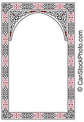 Arabesque border frame - arabesque border frame vector ...