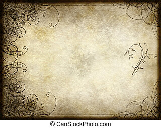 arabesque design on paper - excellent swirling arabesque...