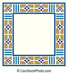 Arabesque frame, geometric border
