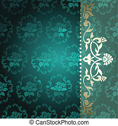 Arabesque in green and gold