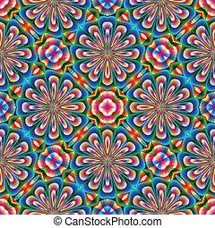 Arabesque mosaic in art deco style