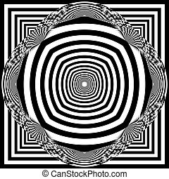 arabesque multiple web like umbrella inspired structure abstract cut art deco illustration
