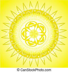 arabesque pattern solar frame