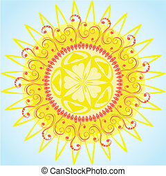 arabesque pattern sun