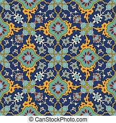 Arabesque seamless pattern in editable vector file