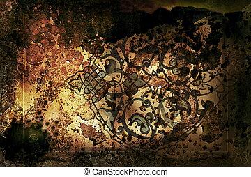 Arabesque - antiquity background illustration