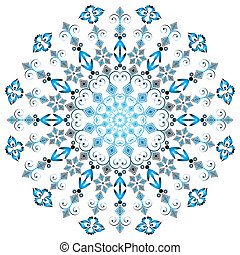 Arabesques round frame on white background (vector)