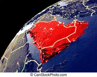 arabië, aarde, satellietmening