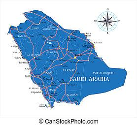arabia, mapa, saudí