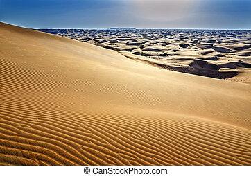 arabia, paisaje del desierto