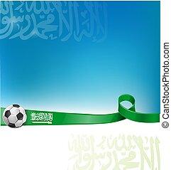 arabia saudita background flag with soccer ball