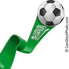arabia saudita  flag with soccer ball