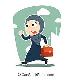 Arabian businessman going to work