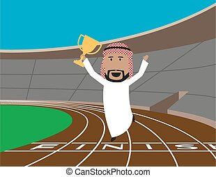 Arabian businessman wins the trophy