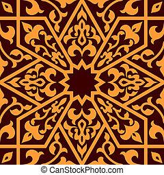 Arabian eastern seamless ornament