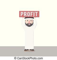 arabian got a profit vector illustration