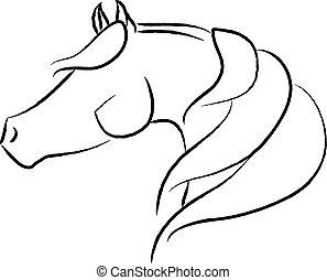 Arabian Horse Head Design - Artistic Arabian horse head...