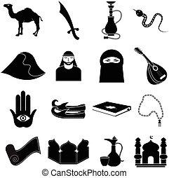 Arabian icons set