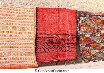 Arabian market - Carpet in arabian market in the street