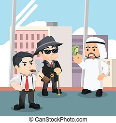 arabian paying mafia illustration design
