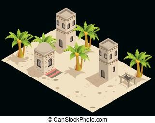 Arabian style artistic building.
