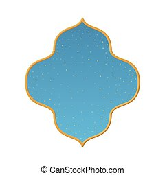 arabian window with a clear sky vector illustration design