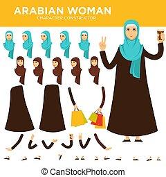 Arabian woman character vector constructor - Arabian woman...