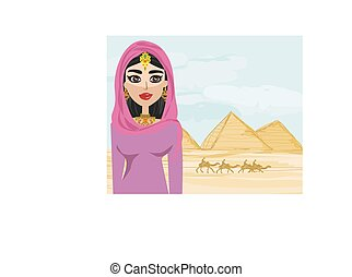Arabian woman in the desert