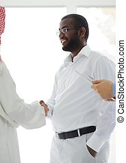 Arabic and African American business men