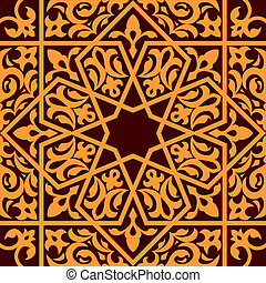 Arabic and islamic seamless ornament