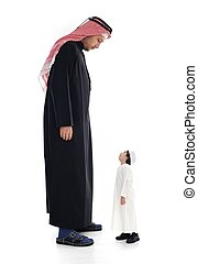 Arabic big and small, adult and child