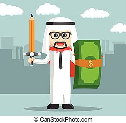 Arabic business man ready for work