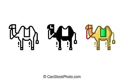 Arabic camel icon that represents animals in Arabic land