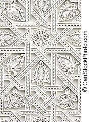 arabic - closeup of a wall of white plaster Arabic