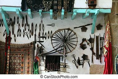 Arabic coffee bar, Sousse, Tunisia - Interior of arabic...