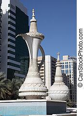 Arabic Coffee Pot Monument in Abu Dhabi, United Arab Emirates