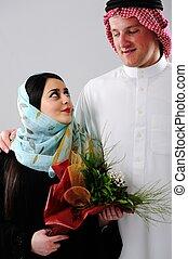 Arabic couple, wife and husband