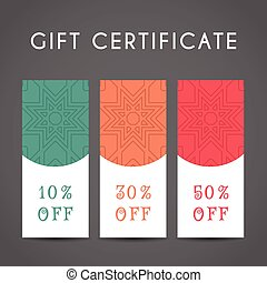 Arabic Discount Coupon Template - Ornamental discount...