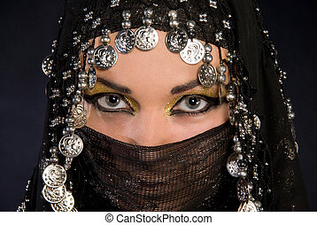 Portret of beautiful arabic girl