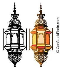 Arabic lantern in two variants - in multicolor and in ...