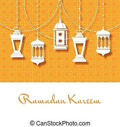 Arabic lanterns background for Ramadan Kareem