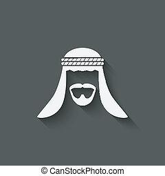 Arabic man avatar - vector illustration. eps 10