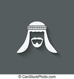Arabic man avatar - vector illustration. eps 10