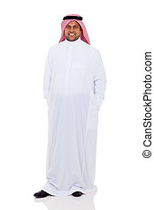 arabic man standing on white background